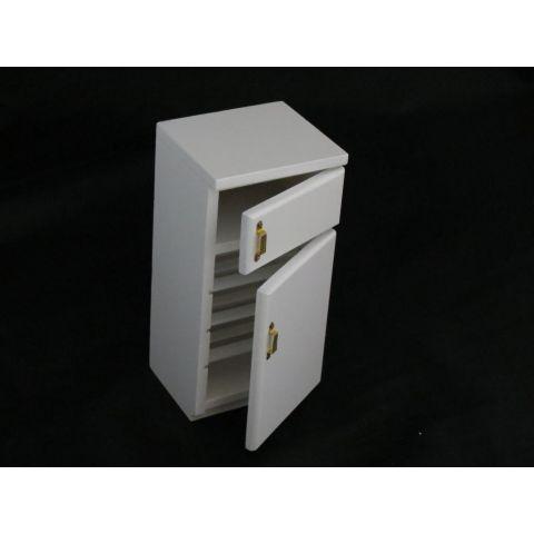 Frigorífico en miniatura de dos puertas blanco