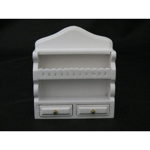 Mueble repisa blanca en miniatura