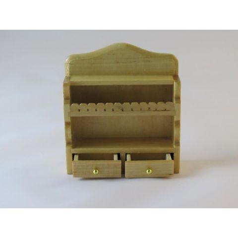 Mueble repisa de color pino en miniatura