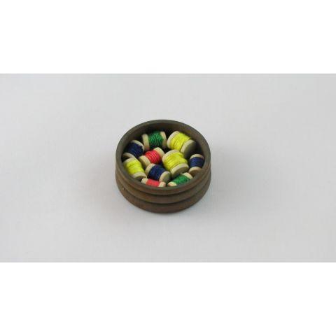 Caja de hilos en miniatura