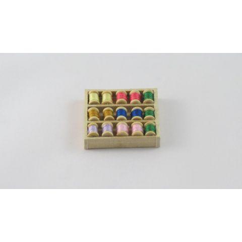 Carrete de hilos en miniatura