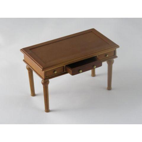 Mesa escritorio de despacho color cerezo