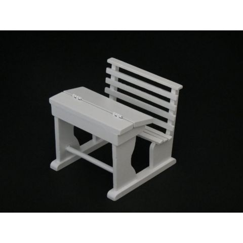 Pupitre en miniatura blanco de madera
