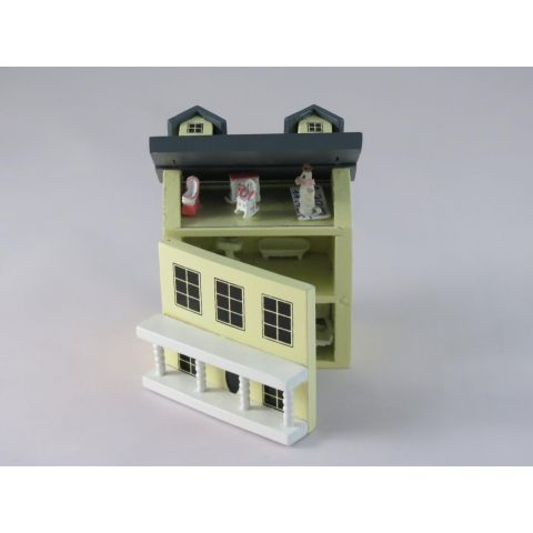 Mini casita de color amarillo (no accesorios)