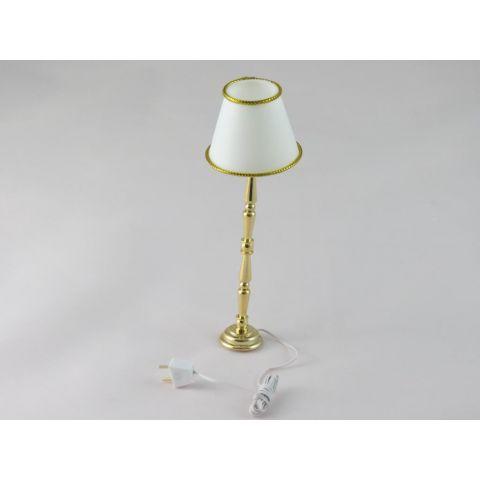 Lámpara de pie en miniatura color dorado