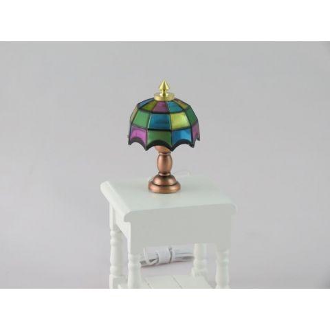 Lámpara en miniatura de sobremesa estilo Tiffany de colores