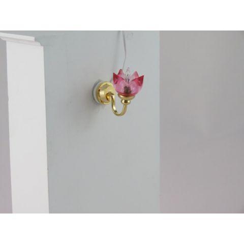 Aplique en miniatura dorado y rosa